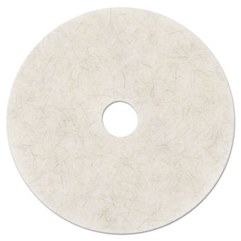 3M™ Ultra High-Speed Natural Blend Floor Burnishing Pads 3300, 20-in, Natural White