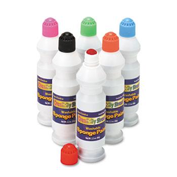 Creativity Street® Sponge Paint Set, 6 Assorted Colors, 2.2 oz, 6/Set