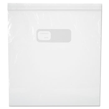 """Reclosable Food Storage Bags, 1 gal, 1.75 mil, 10.5"""" x 11"""", Clear, 250/Box"""