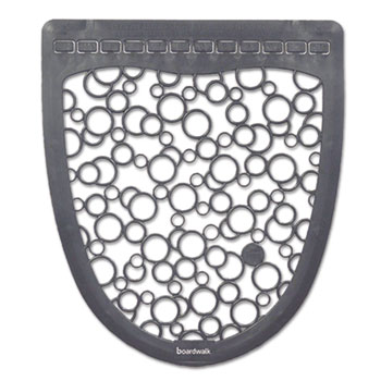 Urinal Mat 2.0, Rubber, 17.5 x 20, Gray/White, 6/Carton