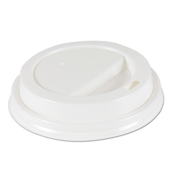 Boardwalk® Deerfield Hot Cup Lids, Fits 10 oz to 20 oz Cups, White, Plastic, 50/Pack, 20 Packs/Carton