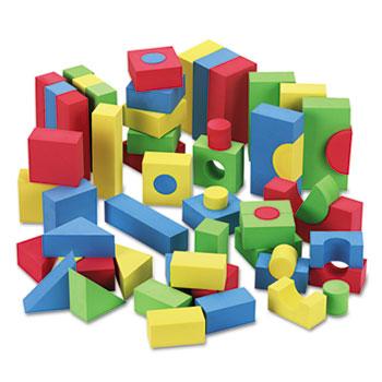 Chenille Kraft® WonderFoam Blocks, Assorted Colors, 68/Pack