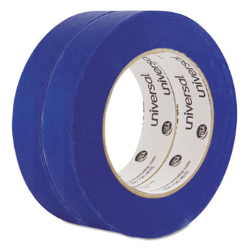 """Premium Blue Masking Tape with UV Resistance, 3"""" Core, 24 mm x 54.8 m, Blue, 2/Pack"""