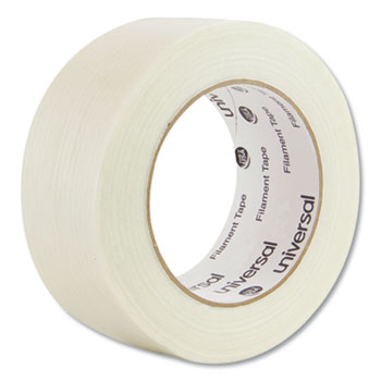 "Universal® 350# Premium Filament Tape, 3"" Core, 48 mm x 54.8 m, Clear"