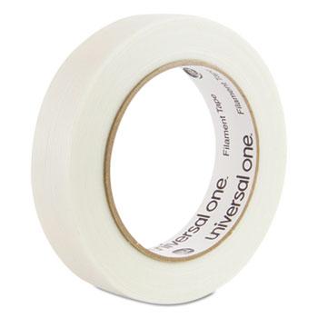"Universal® 350# Premium Filament Tape, 3"" Core, 24 mm x 54.8 m, Clear"
