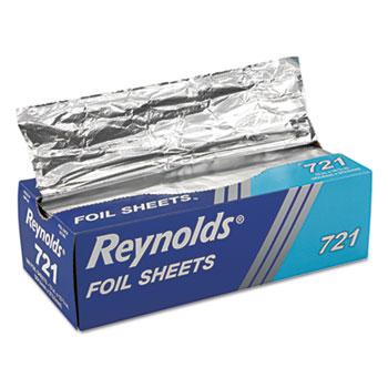 Pop-Up Interfolded Aluminum Foil Sheets, 12 x 10 3/4, Silver, 500/Box