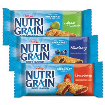 Nutri-Grain Cereal Bars, Asstd: Apple, Blueberry, Strawberry, 1.3oz Bar, 48/Ctn