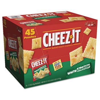 Cheez-It® Crackers, 1.5 oz Bag, White Cheddar, 45/CT