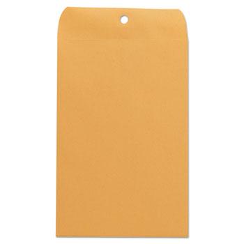 "Kraft Clasp Envelope, 28 lb., #55, 6"" x 9"", Brown Kraft, 100/BX"