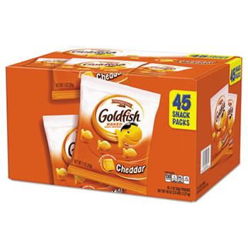 Goldfish Crackers, Cheddar, 1 oz. Bag, 45/CT