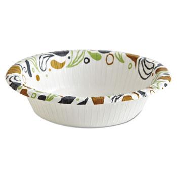 Boardwalk® Deerfield Printed Paper Bowl, 12 oz, Coated/Soak Proof, Multicolor, 125/Pack, 8 Packs/Carton