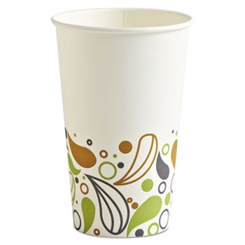 Boardwalk® Deerfield Printed Paper Hot Cups, 16 oz, 20 Cups/Sleeve, 50 Sleeves/Carton