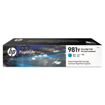 HP 981Y PageWide Cartridge, Cyan Extra High Yield (L0R13A)