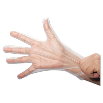 GEN SemperGuard FoodSafe Stretch Poly Gloves, Clear, Medium, Polyethylene, 2000/Ctn