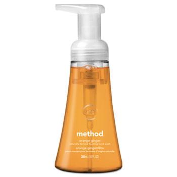 Foaming Hand Wash, Orange Ginger, 10 oz. Pump Bottle, 6/Carton