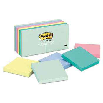 Original Pads in Marseille Colors, 3 x 3, 100 Sheets, 12/PK