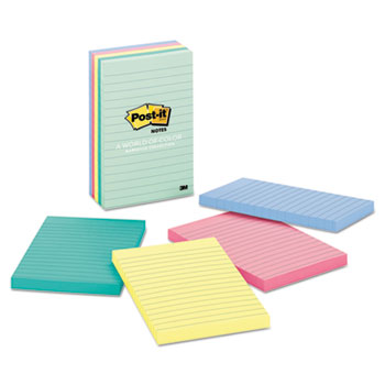 Original Pads in Marseille Colors, Lined, 4 x 6, 100 Sheets, 5/PK