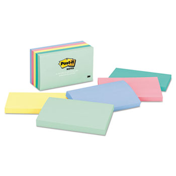 Post-it® Notes Original Pads in Marseille Colors, 3 x 5, 100-Sheet, 5/Pack