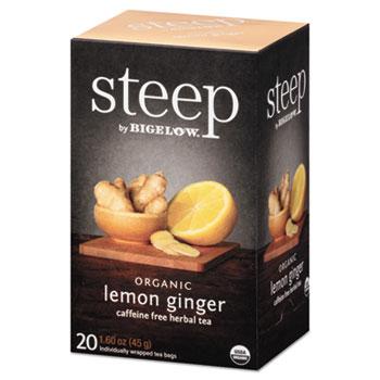 Tea, Lemon Ginger, 1.6 oz Tea Bag, 20/Box
