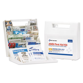 First Aid Only™ Bulk First Aid Kit, For Up to 50 People, ANSI A+, Type I & II, 183 Pieces/Kit