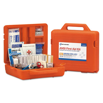First Aid Only™ Weatherproof First Aid Kit, For Up to 50 People, ANSI A+, Type III, 213 Pieces/Kit