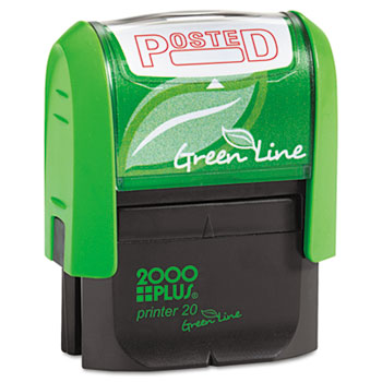 COSCO 2000PLUS® 2000 PLUS Green Line Message Stamp, Posted, 1 1/2 x 9/16, Red