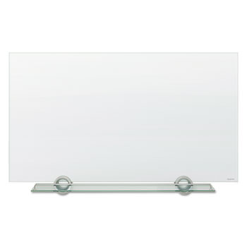 Infinity InvisaMount Magnetic Glass Marker Board, 74 x 42, White