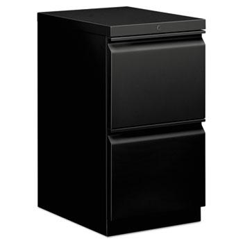 HON® Mobile Pedestal File, File/File, 15 x 20 x 28, Black
