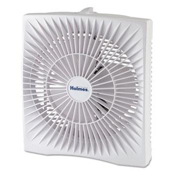 """Holmes® 10"""" Personal Size Box Fan, Plastic, White"""