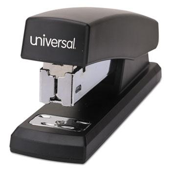 Universal® Half-Strip Stapler, 20-Sheet Capacity, Black