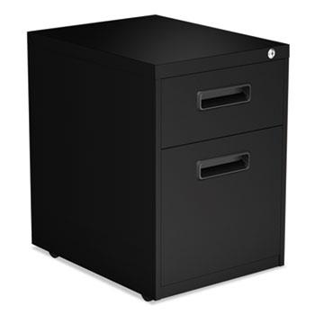 Alera® Two-Drawer Metal Pedestal File, 14.96w x 19.29d x 21.65h, Black