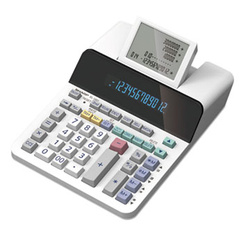 EL-1901 Paperless Printing Calculator with Check and Correct, 12-Digit LCD