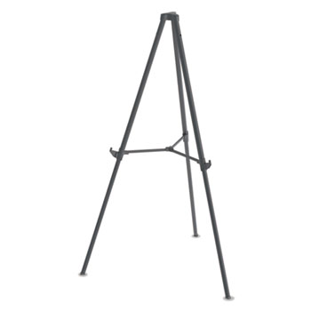 """MasterVision Quantum Heavy Duty Display Easel, 35.62"""" - 61.22""""H, Plastic, Black"""