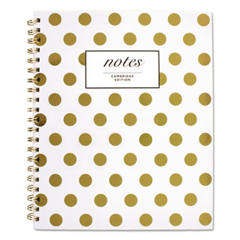 """Gold Dots Hardcover Notebook, 11"""" x 8 7/8"""", 80 Sheets"""