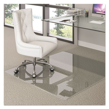 deflecto® Premium Glass Chair Mat, 44 x 50, Clear