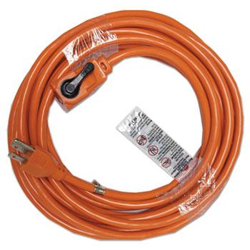 Indoor Extension Cord, Locking Plug, 25ft, Orange