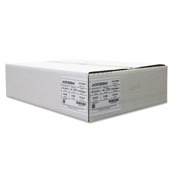 "Jaguar Plastics® Repro Low-Density Can Liners, 60 gal, 2 mil, 38"" x 58"", Black, 100/Carton"