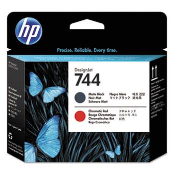 HP 744 (F9J88A) Matte Black and Chromatic Red Printhead