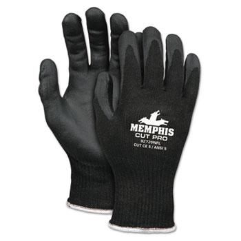 Memphis™ Cut Pro 92720NF Gloves, Medium, Black, HPPE/Nitrile Foam