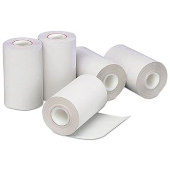 "Direct Thermal Printing Thermal Paper Rolls, 2 1/4"" x 55 ft, White, 50/Carton"