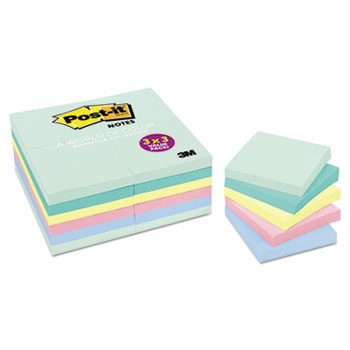 Original Pads in Marseille Colors, Value Pack, 3 x 3, 100-Sheet, 24/Pack