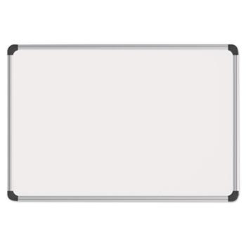 Universal Magnetic Steel Dry Erase Board, 24 x 18, White, Aluminum Frame