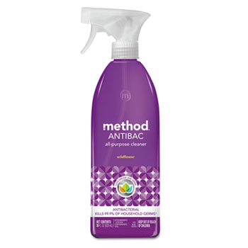 Method® Antibac All-Purpose Cleaner, Wildflower, 28 oz. Spray Bottle, 8/Carton