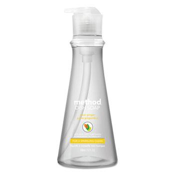 Method® Dish Soap, Pear Ginger, 18 oz. Pump Bottle, 6/Carton