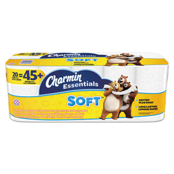 CHARMIN ESSENTIALS SOFT, 2-ply, 200 count, 20/CT