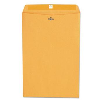 Kraft Clasp Envelope, #98, Square Flap, Clasp/Gummed Closure, 10 x 15, Brown Kraft, 100/Box