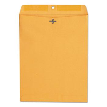 W.B. Mason Co. Kraft Clasp Envelope, Center Seam, 28lb, 10 x 13, Brown Kraft, 100/BX