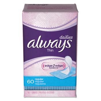 Always® Always Liners Thin Regular 12-60 pack