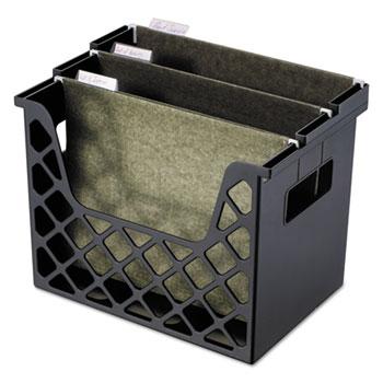 "Universal Recycled Extra Capacity Desktop File Holder, Letter Size, 8.5"" Long, Black"