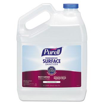 Foodservice Surface Sanitizer, Fragrance Free, 1 gal Bottle, 4/CT